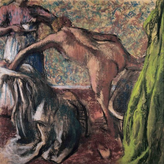 Degas, Edgar: Breakfast After the Bath. Fine Art Print/Poster. (003741)